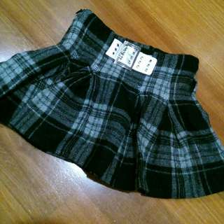 Wool Checkered Skirt