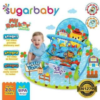 Bouncer Bayi / Baby Bouncer SUGAR BABY MY ROCKER 3 STAGES LITTLE FARM