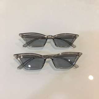 Gray retro cats eye sunnies