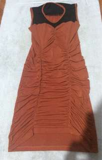 Orange Fitted Dress