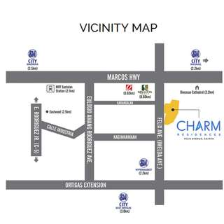 2 Bedroom for Sale in Cainta beside Sta. Lucia Mall