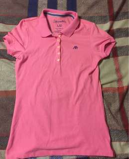 Authentic Aeropostale pink polo shirt