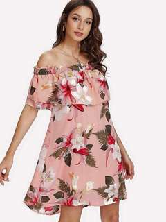 Plus Size Off Shoulder Dress