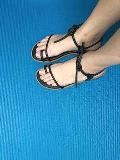 🚚 平底綁帶涼鞋23(36)