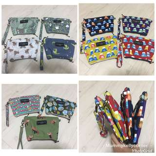 TOP and bottom zipper pouches