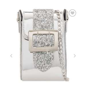 Silver glitter shoulder bag