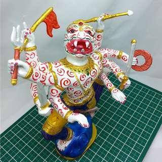 Eight-Armed Hanuman Bucha Statue - LP Key