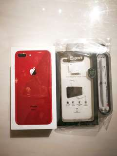 Iphone 8 Plus 256GB. Red! It's red NOT silver. See photo