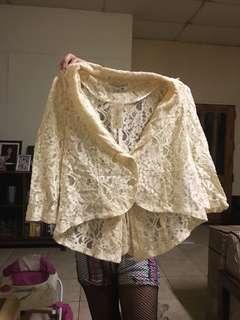 Lace blazer