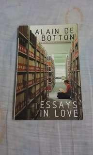 Essays in Love by Alain de Botton book