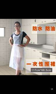 Disposable Plastic Apron for F&B or Senior Care (100 pcs in a roll)