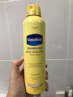 Vaseline Spray Moisturiser Intensive Care Deep Restore 190g