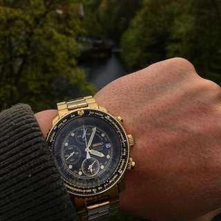 [BNIB] Seiko Flight Alarm Chronograph Pilot's Flight Master SNA414 SNA414P SNA414P1 Men's Watch
