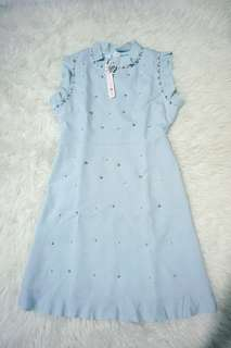 Baby blue pearl dress NEW