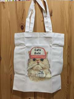 BN Cats Rule canvas tote bag