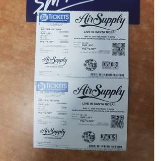 Air Supply Concert Tickets