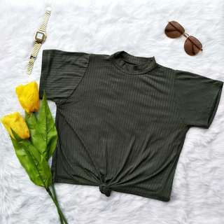 Veronica Crop Top (Army Green)