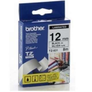 Brother 12mm TZ tape black on silver