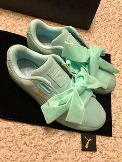 全新✨Puma 緞帶鞋 湖水綠 Tiffany綠