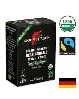 🚚 【Mount Hagen】 有機低咖啡因即溶咖啡粉(50g) 2g*25小包