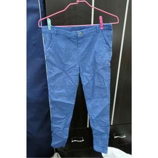 彈力顯瘦修身斜紋布仿牛仔小腳窄管貼腿長褲