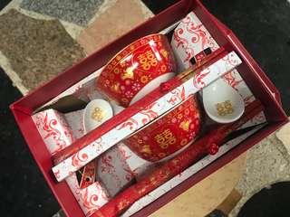 婚後物資 喜鵲筷碗
