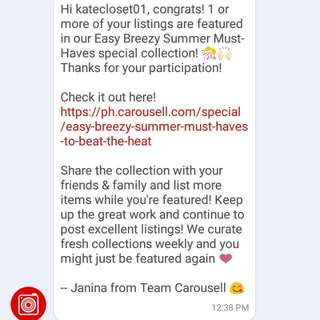 💗Thank You Much Carousell 💗