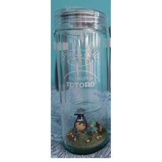 Double Layered Totoro Glass Bottle