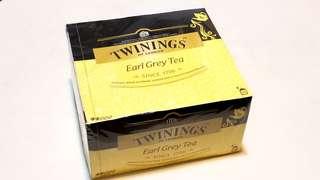 川寧Twinings 伯爵茶Earl Grey Tea 盒裝茶包(50包裝)