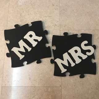 Wedding decor - Mr & Mrs display