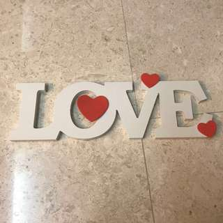 Wooden love lettering display / decor / sign
