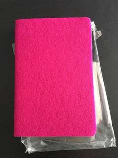 Journal notebook hot fuschia pink