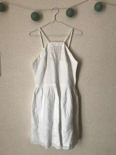 ABERCROMBIE AND FITCH WHITE LACE DRESS