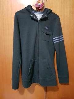 Adidas Dark grey/purple hoodie zip