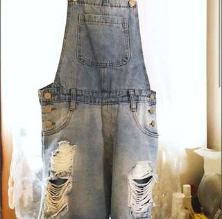 Brand New Denim jumpsuit