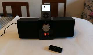 Logitech iPod, iPhone, clock alarm speakers
