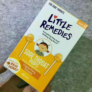 美國Little Remedies 天然蜂蜜止咳棒棒糖