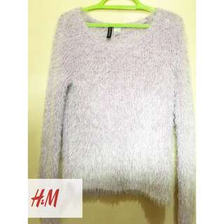 H&M SYNTHETIC FUR SWEATSHIRT