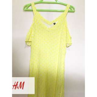 H&M YELLOW OFF-SHOULDER DRESS