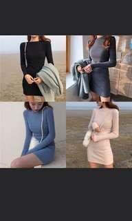 [PO] #382 Bodycon long sleeve dress