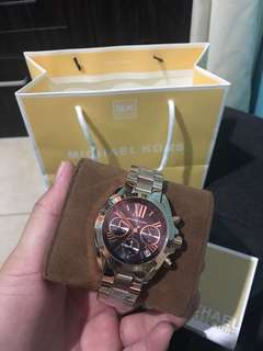 Michael Kors Watch for Her/MK Bradshaw Rosegold and Black Dial