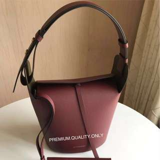 Burberry The Small Bucket Bag- maroon red