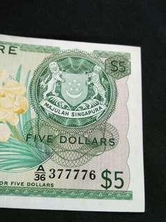 Old $5 sg notes