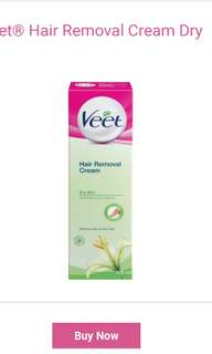 BRAND NEW Veet hair removal cream shea butter lily fragrance dry skin