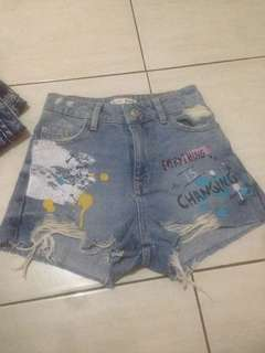 High Waist Hotpants Denim