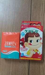 2012 Fujiya 不二家 Peko 牛奶妹 卡通公仔 防水膠布 (只此一盒)