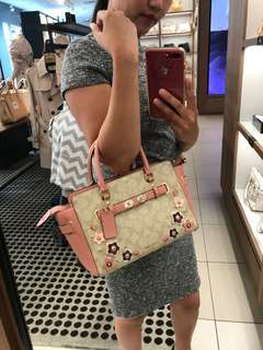 Coach Carryall with Floral Applique