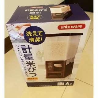 100 % 正品日本ASVEL儲米箱密封米缸防霉防潮防蟲 塑料計量自動出米桶箱6kg 正品
