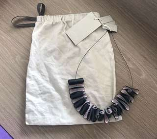 全新 COS leather ruffles necklace 真皮頸鏈 & other stories toga