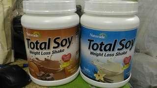 美國直運 Naturade Total Soy大豆代餐粉 飽肚瘦身減肥蛋白粉配搖搖杯 代餐 纖體 雲呢拿味 Meal Replacement Lose Weight Keep Fit 全新